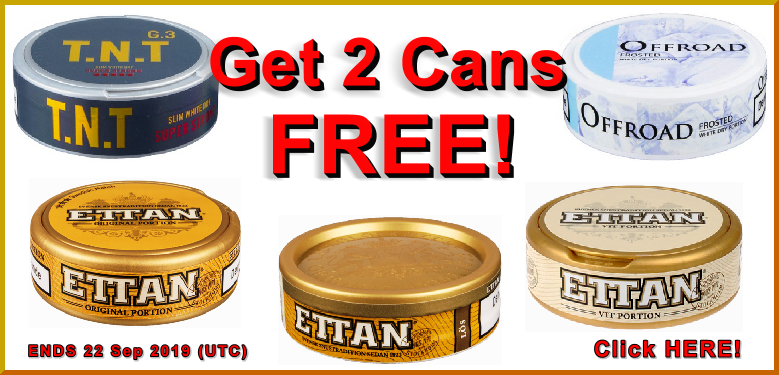 Mid-September Snus Sale ! (Moe couldn't think of a better name for this awesome Snus Sale)