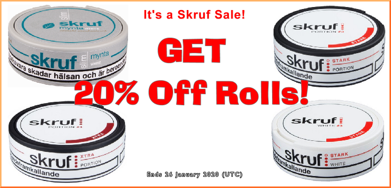 Cuddle up with some Skruf Savings as we close out January!