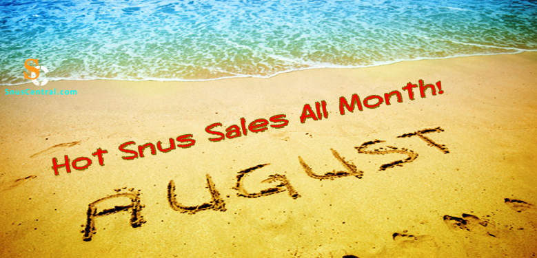 We'll be having lots of Great Snus Sales all month long! Be Safe!