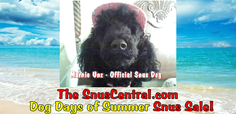 The Savings are HOT at the SnusCentral.com Dog Days of Summer Snus Sale!