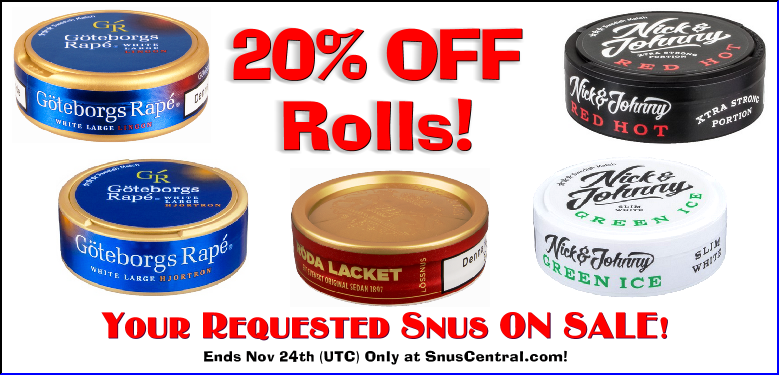 Snus YOU asked to be On Sale!