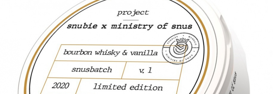 Snubie x Ministry of Snus Bourbon & Vanilla Strong White Portion Snus