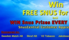 WIN FREE SNUS for a YEAR at SnusCentral.com again!