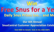 Free Snus for a Year Winners NOTIFIED